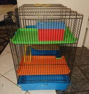 Wunderschöner bunter Hamsterkäfig Kleintierkäfig Mäusekäfig