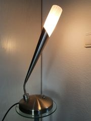 Tischlampe Chrom matt
