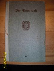 Ahnenpaß Schubert Weißenborn aus Kassel