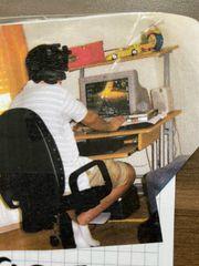 PC Schreibtisch mit Ablage für