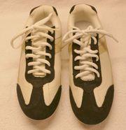 bequeme Sneaker weis blau beige