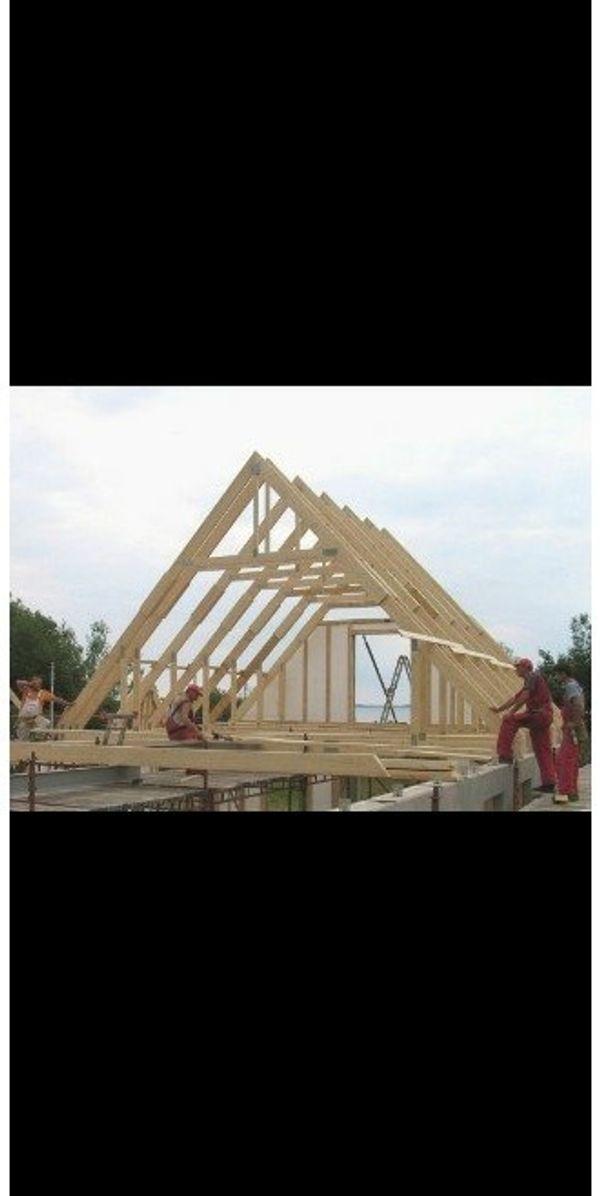 Dach arbeite und Dachrinner
