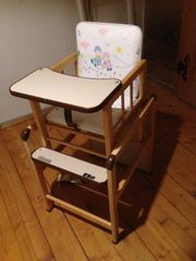 Baby Hoch- Spielstuhl aus Holz