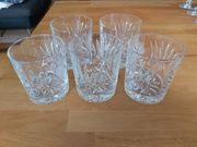 5 Wunderschöne Whiskygläser Bleikristall geschliffen