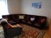 70er Jahre Sitzgruppe Wohnzimmer braun--orange