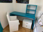 Bett Schreibtisch Nachtkästchen Regal