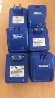 6X Powerline-Adapter Tevion Blau