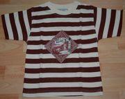Gestreiftes T-Shirt - Größe 110 - Kurzarm -