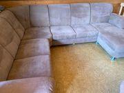 Sofa Velours-Leder mit Sessel - Top