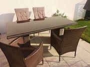 Gartenmöbel Tisch Glas 180x 90