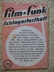 film funk Schlagertextheft - Nr 73