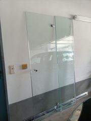 3 teilige Duschkabine aus Glas