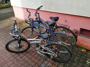 3 ältere Fahrräder