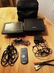Tragbarer DVD-Player mit 2 Displays