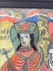 Antikes Hinterglasbild Heilige Paraschiva Nicula-Schule