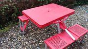Camping Tisch-Sitz-Kombi klappbar