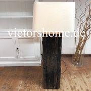 Stehlampe Stehleuchte Holz antik B