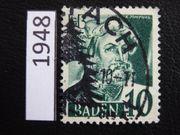 Besatzung Baden 1948 Sonderstempel WOLFACH