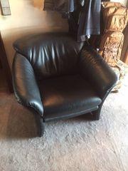 Gebrauchter schwarzer Leder Sessel