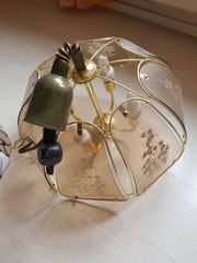 2 neuwertige Glas Hänge Lampen