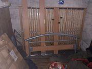 Holzmetallbett mit Lattenrost