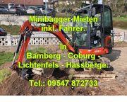 Baggerarbeiten Bamberg und Umgebung Minibagger