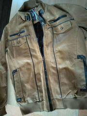 Cipo Baxx Herren-Wildleder-Jacket L hellbraun