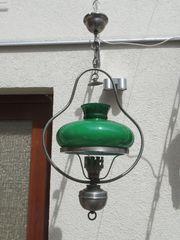 Hängelampe alte antike grüner Glasschirm
