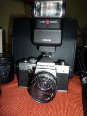 Praktika LTL3 Kamera Komplettset Systemblitz