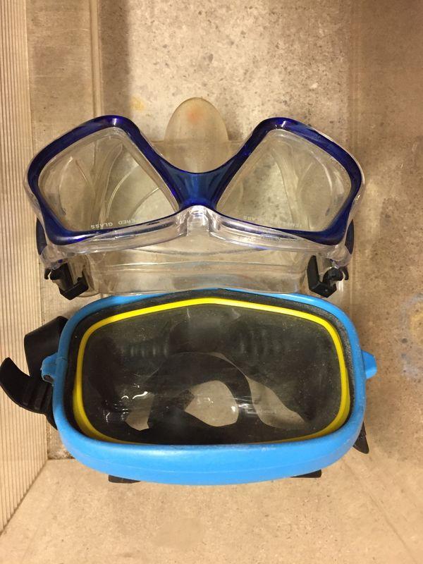 Schnorchelsets 2 Taucherbrillen Schnorchel Blasebslg