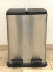 Abfallbehälter doppelt Edelstahl zum Verschenken