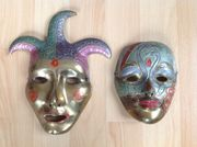 2 venezianische Karneval-Masken