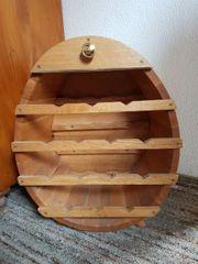 Weinregal Weinfass Holzfass für Weinflaschen