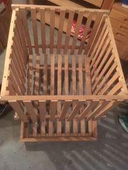 Vorratsbehälter aus Holz Holzbretter Einlagerungsbehälter