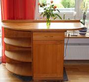 Küchenschrank und Regal Buche massiv