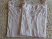 Unterwäsche Damenunterhemden 2 St weiß