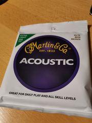 Martin Acoustic Stahlsaiten extra light