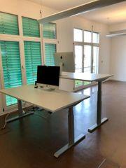 Komplette Büroeinrichtung lichtgrau neuwertig