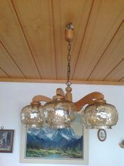 Wohnzimmerlampe Holz massiv