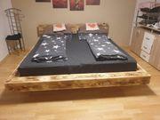 Bett Balkenbett massives Bett Handarbeit