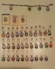 39 Miniatur Wappen versilbert Echt