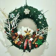 Weihnachtskranz mit Elch