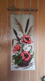 Wandbehang Handstickerei