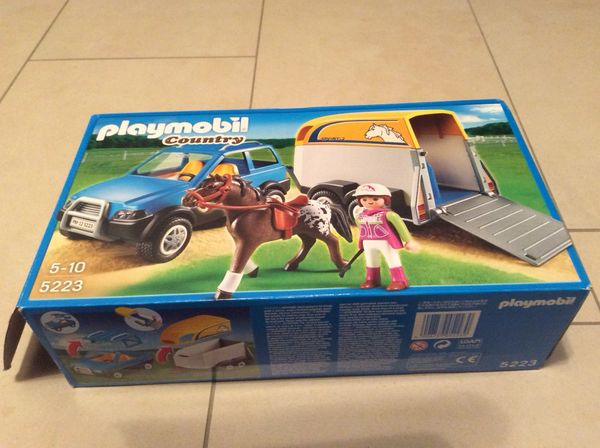 Playmobile Pferdeanhänger mit Auto 5223