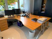 Schreibtischgarnitur für 2 Personen