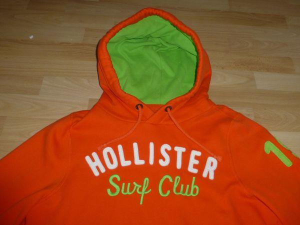 Hollister Hoody in orange neuwertig