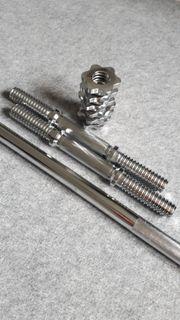 Langhantelstange und Kurzhantelstangen mit Schraubverschlüssen