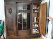 Bücherschrank mit passendem Schreibtisch Gründerzeit