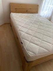 Eiche Massivholz - Bett 140 x
