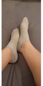 Getragene Socken zu verkaufen